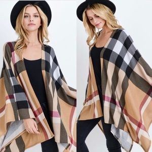 Burberry Plaid Style Poncho/Wrap...So Classic!